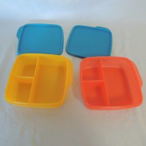 Tupperware Kitchen - Tupperware Lunch It Divided Container Papaya Hot P